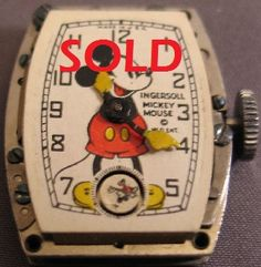 1938 Mickey Mouse Ingersoll Vintage Watch