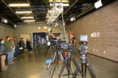 Film School at SCC - Open House 2013. Camera set ups and camera demos in our Film School Hub (FSH) building.