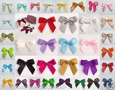 Self #adhesive #large 5cm pre tied satin bows #cards favours crafts embellishment,  View more on the LINK: http://www.zeppy.io/product/gb/2/111294419860/