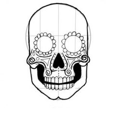 how to draw your own sugar skull!