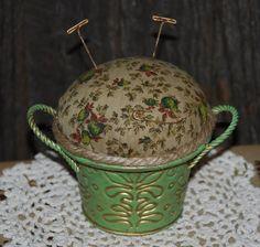 pin keep   pin keep in an old sugar bowl   sewing tips