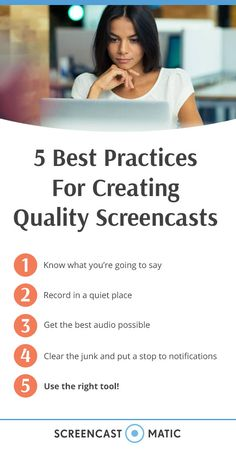 Creating quality screencasts takes preparation. Whether you're creating a formal training video or product demo you'll need to be prepared before you hit the record button. It can save you from video editing hassles or having to re-start your screencast. Screen Recorder, Talking Points, Flipped Classroom, Blended Learning, Best Practice, You Videos, Video Editing, Create Yourself, Web 2
