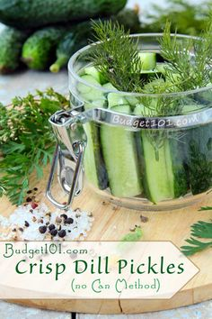 Overnight Dill Pickles, no canning. A good tip when there just are not enough to can a wholebatch!