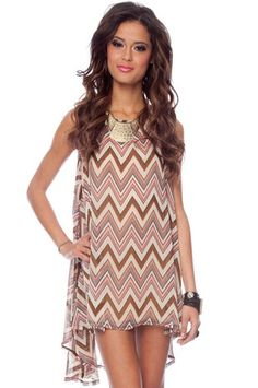 Ziggy Poncho Tunic in Pink and Brown $40 at www.tobi.com