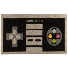 Coir Door Mat - Retro Gaming Every home needs a door mat so check out our collection of coir door mats. Made from robust natural coir fibre with Rubber Floor Mats, Rubber Mat, Natural Door Mats, Front Door Rugs, Laundry Room Rugs, The Game Is Over, Coir Doormat, Retro Gamer, Long Rug