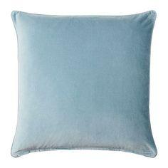 Ikea Sanela Cushion Cover Pillow Cotton Velvet 26 X 26 Light Blue Euro Sham