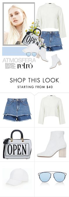 """I MISS MY DADDY"" by defivirda ❤ liked on Polyvore featuring Topshop, Moschino, Maison Margiela, Talbots and Christian Dior"