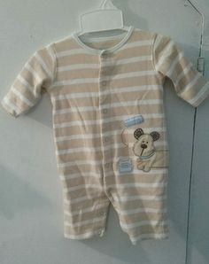 6d7699098 Carter's Boys Stripe Romper Puppy Coverall 3 M Months Baby Infant One Piece  for sale online   eBay