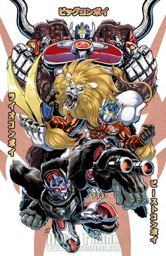 Beast Convoys Print by Matt Frank for Botcon 2016 - Transformer World 2005 - TFW2005.COM