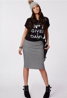 Dogtooth Print Skirt, $37.98 | 17 Amazing Plus-Size Looks You're Definitely Going To Want To Wear