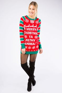 121 Best Crazy Christmas Images Knit Dress Sweater Dresses Boyfriend
