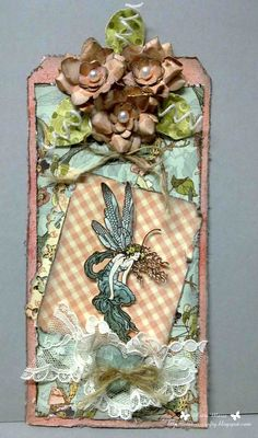 Beautiful Once Upon a Springtime Tag from Scrapbook.com #graphic45