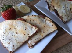 Dulce Quesadilla Recipe - Whip up this sweet and simple dessert or treat using chocolate, strawberry and banana in no time!
