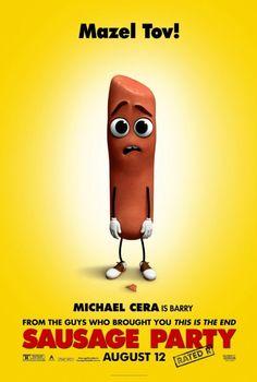 El Puffs. Poster promocional de #FiestaDeSalchichas #SausageParty #RatedR