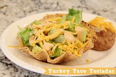 Turkey Taco Tostadas (East, fast, healthy, delicious, MUST TRY!) Pin now, make later!
