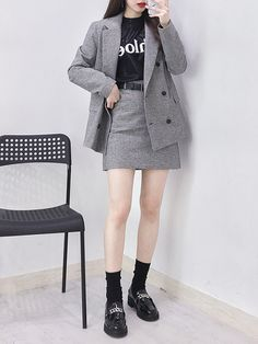 Stylish ideas for korean fashion trends 704 - Asian Winter Fashion Fashion In, Korea Fashion, Asian Fashion, Cute Fashion, Fashion Outfits, Cool Outfits, Fashion Ideas, Tomboy Fashion, Fashion Design