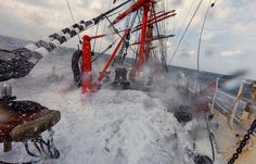 Tall ship 'Sedov' in heavy seas