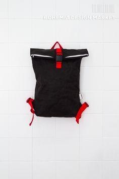 #black #eco #vegan #handmade #rollup #backpack #original #local #design Bohemia Design, Rucksack Backpack, Backpacks, Vegan, Marketing, Creative, Stuff To Buy, Handmade, Bags