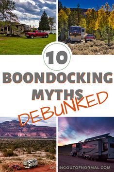 10 Myths About Boondocking - Debunked! - Opting Out of Normal Family Camping, Tent Camping, Camping Hacks, Outdoor Camping, Camping Ideas, Rv Hacks, Camping Outdoors, Camping Essentials, Rv Travel