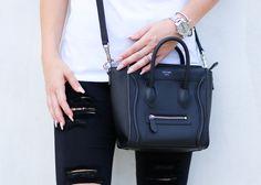 Black Celine Nano Luggage