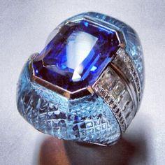 Scavia- sapphire, dia.,Aquamarine , white gold