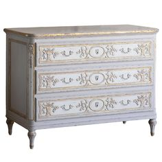 French Fleur Bronte Chest - Vintage French