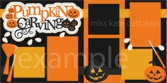 Pumpkin Carving Title scrapbook title SVG cutting files cute cut files for…