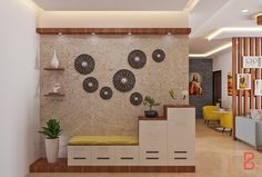 Get the best interior design ideas, room decors, smart features and more by a team of incredibly qualified designers only at Bonito Designs. Living Room Partition Design, Room Partition Designs, Hall Interior Design, Foyer Design, Indian Home Interior, Indian Home Decor, Bedroom Cupboard Designs, Living Room Designs, Living Room Interior