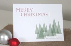 Custom christmas tree Holiday Card by Four 13 Designs