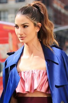 "Who: Lily Aldridge What: A Perfect Ponytail How-To: If ""post-gym"" is at one end of the ponytail spectrum and ""Oscars red carpet"" is on the other, then Aldridge's style places her firmly in the middle. It has all the essential elements of a great ponytail: height, second-day texture and face-framing wisps. Wave your hair and spray dry shampoo or lightweight texture spray all over before falling asleep, then brush the product through when you wake up for the perfect amount of volume and kink…"