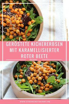Salat Mit Gerosteten Kichererbsen Veganes Low Carb Rezept Zum Abnehmen Rezepte Gerostete Kichererbsen Und Kichererbsen
