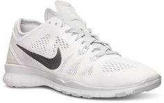 Who says you can't wear white before Memorial Day? These trainers are a quick way to start lightening up from the darker hues of Winter. Nike Women's Free 5.0 TR Fit 5 Training Sneakers from Finish Line ($100)