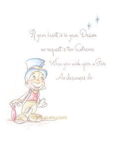 Pinocchio Art Print Wall Decor Quote Poster