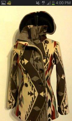 Shayne R. Watson Designs Gray pendleton jacket