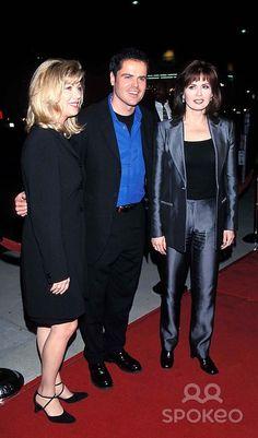 """Meet Joe Black"" Premiere. Donny Osmond and Wife, Debbie, with Marie Osmond Photo: Fitzroy Barrett - Globe Photos Inc 1998 Marieosmondretro"