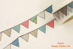 Japanese Washi Masking Tape  Pattern Banner  7.6 by zakkalover