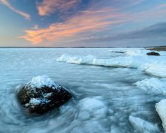 'Frozen coastline' by Mikael Svensson on artflakes.com as poster or art print $20.79