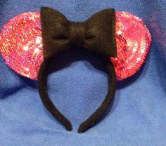Minnie Glitz Pink Ears by CrazyBeautifulCreati on Etsy, $23.00
