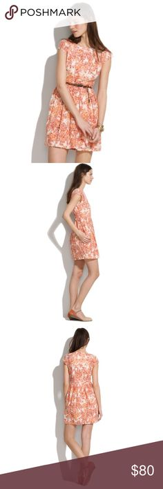 "NWT Madewell painted lacebloom dress The lace on this is so beautiful, but unfortunately the cut of the dress isn't flattering on me due to my height (5'9"") Perfect NWT condition  Bust approx 17.5"" flat, waist approx 15"" flat, length 35"" Madewell Dresses"