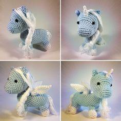 Free Crochet Pattern: Baby Pegasus or winged Unicorn Amigurumi   Zum flauschigen Einhorn