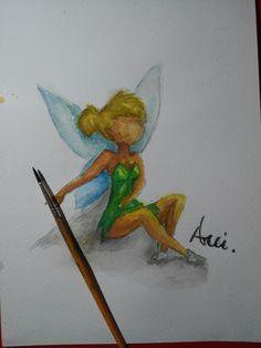 Dzwoneczek Tinkerbell Akwarela Watercolor