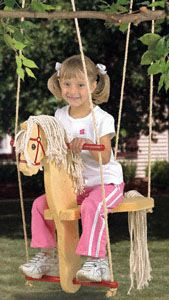 Horse Swing Woodworking Plan The kids will enjoy endless summer time hours swinging in this fun to build Horse Swing.