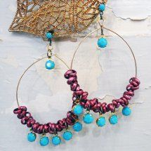 This Chain and Crystal Hoop Earrings pair is one of our favorite free jewelry making projects because it take no time to put together and leaves you with a very fun and trendy looking earring. The DIY earrings are easily customizable for gift-giving.