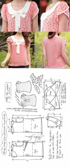 Blusa manga tulipa e gola boneca | DIY - molde, corte e costura - Marlene Mukai