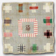 German darning sampler worked by CW Rath in 1850