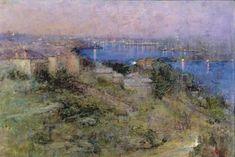 'Sydney Harbour At Night'. 1910. Jane Price. Heidelberg School.