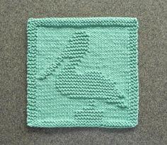 PELICAN Knit Dishcloth or Wash Cloth, Hand Knitted Unique Design - 100% Cotton Seafoam / Aqua ~ Lake Decor Seaside Decor, Sea Birds