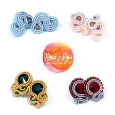 tiny soutache earrings by Dora Maar #autumn #fw2014 #winter #trends
