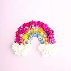 Find images and videos about pink, flowers and rainbow on We Heart It - the app to get lost in what you love. Rainbow Flowers, Rainbow Colors, Pantone, Floral Design Classes, Rainbow Photo, Choose Joy, Flower Quotes, Happy Spring, Rainbow Unicorn