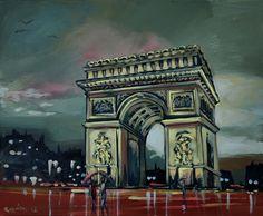 Triumph Paris acrylic on canvas